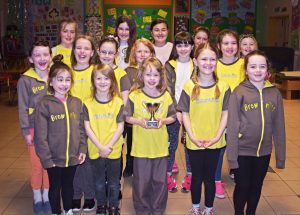 1st Heywood Brownies holding the Presidents Cup